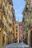 Rue à Pamplona, Espagne photographie stock libre de droits