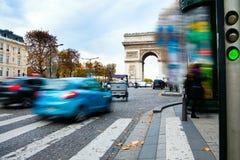 Rue à Paris Image libre de droits