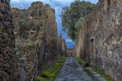 Rue à Pompeii photo stock