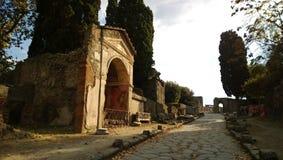 Rue à Pompeii ruiné image libre de droits
