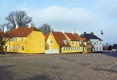 Rue à Roskilde, Danemark images libres de droits