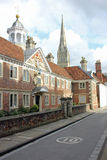 Rue à Salisbury, Angleterre photographie stock libre de droits