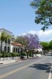 Rue à Santa Barbara, Etats-Unis Photo stock