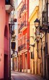 Rue à Tarragona images stock