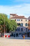 Rue à un centre de Venise Photo libre de droits