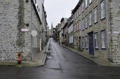 Rue à vieux Québec Photos libres de droits