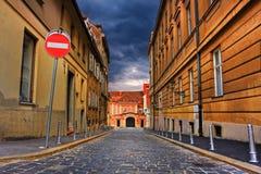 Rue à Zagreb photographie stock