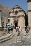 Rue Église de sauveur dans Dubrovnik, Croatie Images libres de droits
