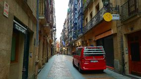 Rue étroite à Bilbao, Espagne Images libres de droits