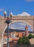 Rue étroite à Teruel Images libres de droits