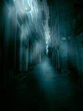 Rue étroite brumeuse photo libre de droits