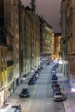 Rue étroite célèbre dedans d'abord Images libres de droits