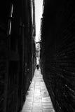 Rue étroite dans la guerre biologique de Venise Photo stock