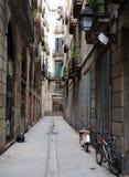 rue étroite de Barcelone Photographie stock