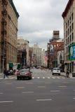 Rue abandonnée de NYC après ouragan Sandy Images libres de droits