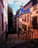 Rue André Antoine montmartre paris arkivfoto