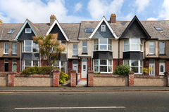Rue anglaise des maisons en terrasse Photo libre de droits