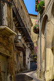 Rue antique d'Altomonte, Italie Images stock