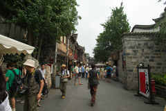 Rue antique dans Jinli Photo libre de droits