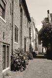 Rue antique dans le Muurhuizen, Amersfoort, Pays-Bas Photos libres de droits