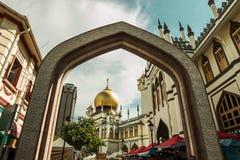 Rue arabe à Singapour image libre de droits