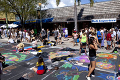 Rue Art Festival dans le lac en valeur la Floride photos stock