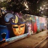 Rue Art Mural Venice Beach image stock