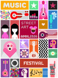 Rue Art Poster Template Design Image stock