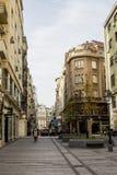 Rue au centre de la ville de Belgrade serbia photographie stock libre de droits