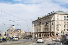 rue au centre de Sofia, Bulgarie images libres de droits