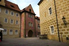 Rue au château de Prague Photos stock