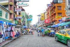 Rue au détail à Bangkok Photos libres de droits