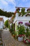 Rue au vieux centre de Stavanger - la Norvège Photographie stock