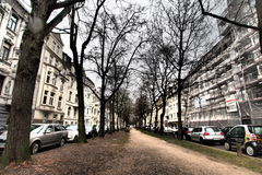Rue avec des bâtiments Photo stock