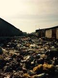 Rue avec des déchets Images libres de droits