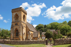 Rue Barnabas Chruch, Snowshill, Cotswolds photographie stock libre de droits