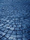 Rue bleue Photographie stock libre de droits