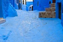 Rue bleue Image stock