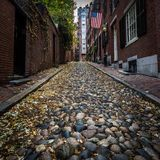 Rue Boston de gland image stock