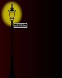 Rue Bourbon Street Sign With-Lamp stock illustratie