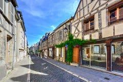 Rue Bourbonnoux - Bourges, Francia fotografia stock