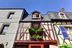 Rue Bourbonnoux - Bourges, Frankrike royaltyfria bilder