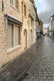 Rue Bruges de pavé Photos libres de droits