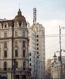 Rue Bucarest Roumanie de Victoriei Image stock