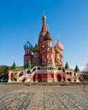 Rue Cathédrale de basilic à Moscou, Russie Image libre de droits