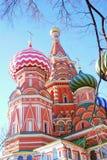 Rue Cathédrale de basilic, grand dos rouge, Moscou, Russie Photo libre de droits