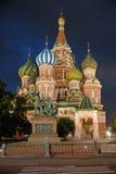 Rue Cathédrale de basilic. Moscou, Russie Photographie stock libre de droits