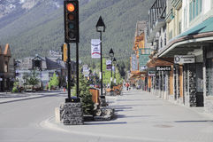 Rue centrale de Banff Photo stock