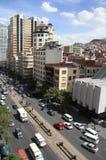 Rue centrale de vue aérienne de La Paz, Bolivie Images stock