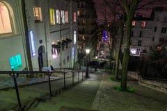 Rue Chappe Montmartre arkivbild